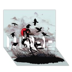 Dancing With Crows Hope 3d Greeting Card (7x5)