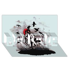 Dancing With Crows BELIEVE 3D Greeting Card (8x4)