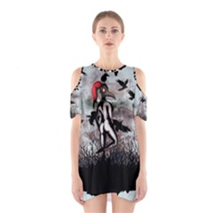 Dancing With Crows Cutout Shoulder Dress