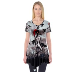 Dancing With Crows Short Sleeve Tunic