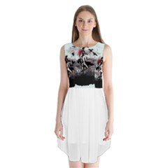 Dancing With Crows Sleeveless Chiffon Dress