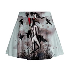 Dancing With Crows Mini Flare Skirt