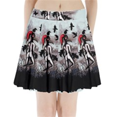 Dancing With Crows Pleated Mini Mesh Skirt