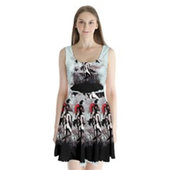 Dancing With Crows Split Back Mini Dress
