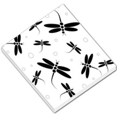 Black and white dragonflies Small Memo Pads