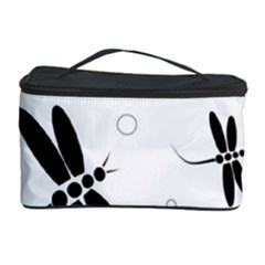 Black and white dragonflies Cosmetic Storage Case