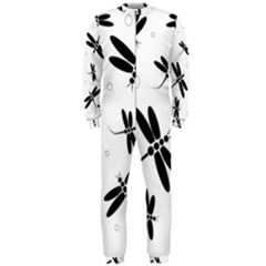 Black and white dragonflies OnePiece Jumpsuit (Men)