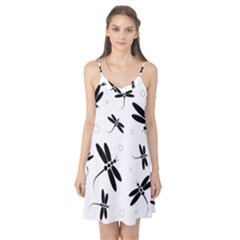 Black and white dragonflies Camis Nightgown