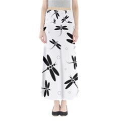 Black and white dragonflies Maxi Skirts