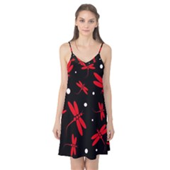 Red, black and white dragonflies Camis Nightgown