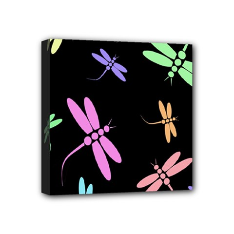 Pastel dragonflies Mini Canvas 4  x 4