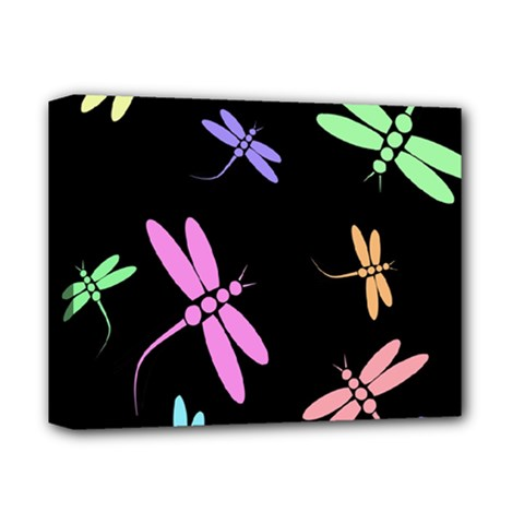 Pastel dragonflies Deluxe Canvas 14  x 11