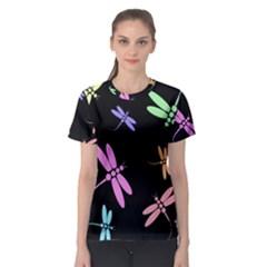 Pastel dragonflies Women s Sport Mesh Tee