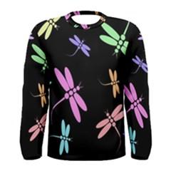 Pastel dragonflies Men s Long Sleeve Tee