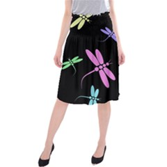 Pastel dragonflies Midi Beach Skirt