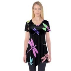Pastel dragonflies Short Sleeve Tunic