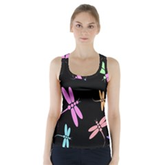 Pastel Dragonflies Racer Back Sports Top