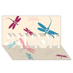 Pastel Dragonflies  #1 Mom 3d Greeting Cards (8x4)