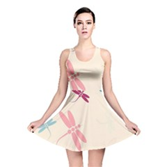 Pastel dragonflies  Reversible Skater Dress