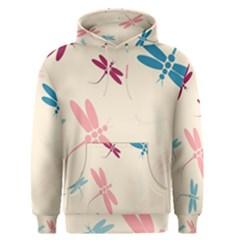 Pastel dragonflies  Men s Pullover Hoodie