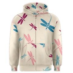 Pastel dragonflies  Men s Zipper Hoodie