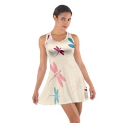 Pastel Dragonflies  Cotton Racerback Dress