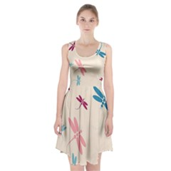 Pastel Dragonflies  Racerback Midi Dress
