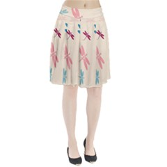 Pastel Dragonflies  Pleated Mesh Skirt