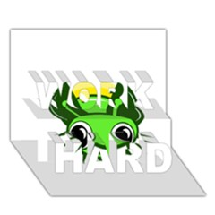 Transparent firefly WORK HARD 3D Greeting Card (7x5)