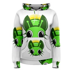 Transparent firefly Women s Pullover Hoodie