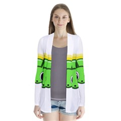 Transparent firefly Drape Collar Cardigan