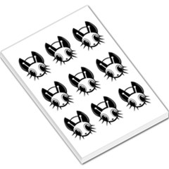 Black and white fireflies patten Large Memo Pads