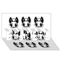 Black and white fireflies patten BEST BRO 3D Greeting Card (8x4)