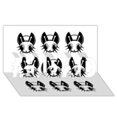 Black and white fireflies patten #1 DAD 3D Greeting Card (8x4)