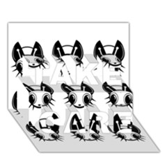 Black and white fireflies patten TAKE CARE 3D Greeting Card (7x5)