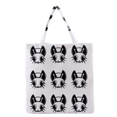 Black And White Fireflies Patten Grocery Tote Bag