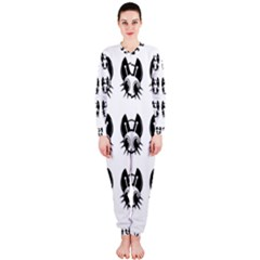 Black and white fireflies patten OnePiece Jumpsuit (Ladies)