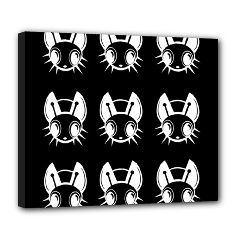 White and black fireflies  Deluxe Canvas 24  x 20
