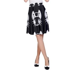 White and black fireflies  A-Line Skirt
