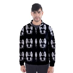 White and black fireflies  Wind Breaker (Men)