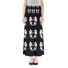 White and black fireflies  Maxi Skirts