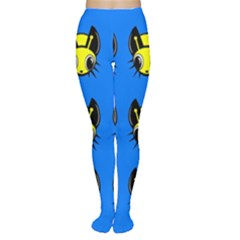 Yellow and blue firefies Women s Tights