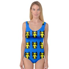 Yellow And Blue Firefies Princess Tank Leotard