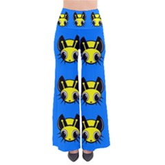 Yellow And Blue Firefies Pants