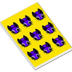 Blue and yellow fireflies Large Memo Pads