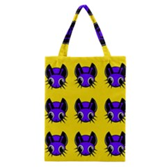 Blue and yellow fireflies Classic Tote Bag