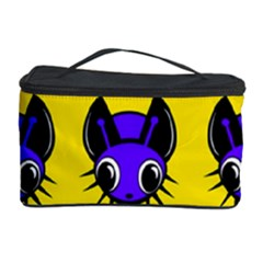 Blue and yellow fireflies Cosmetic Storage Case