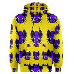 Blue and yellow fireflies Men s Pullover Hoodie