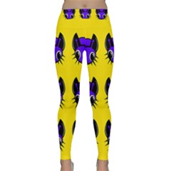 Blue and yellow fireflies Yoga Leggings