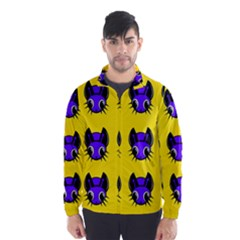 Blue and yellow fireflies Wind Breaker (Men)